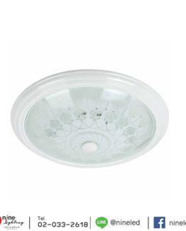 โคมไฟเพดาน 32w ขาวแก้ว C4-1