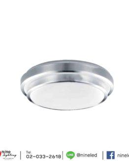 โคมไฟเพดาน LED (18W) ขอบสีเงิน 2 ชั้น